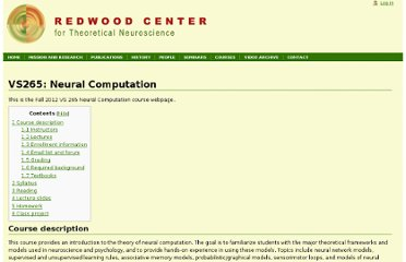 http://redwood.berkeley.edu/wiki/VS265:_Neural_Computation