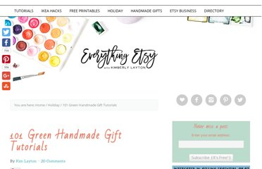 http://www.everythingetsy.com/2011/11/101-green-handmade-gift-tutorials/