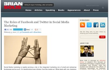 http://www.briansolis.com/2010/02/the-role-of-facebook-and-twitter-in-social-media-marketing/