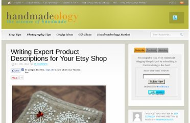 http://www.handmadeology.com/writing-expert-product-descriptions-for-your-etsy-shop/