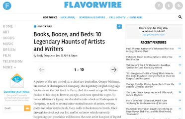 http://flavorwire.com/242735/books-booze-and-beds-10-legendary-haunts-of-artists-and-writers#1