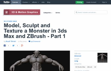http://cg.tutsplus.com/tutorials/autodesk-3d-studio-max/model-sculpt-and-texture-a-demon-like-monster-in-3ds-max-and-zbrush-day-1/