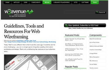 http://www.w3avenue.com/2010/02/03/guidelines-tools-and-resources-for-web-wireframing/