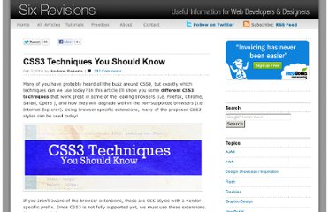 http://sixrevisions.com/css/css3-techniques-you-should-know/