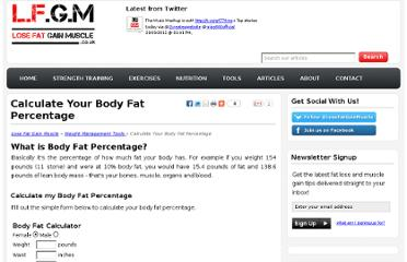 http://www.losefatgainmuscle.co.uk/weight-management-tools/calculate-your-body-fat-percentage