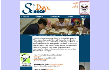 http://www.sciencedays.org/curriculum/lessons.html