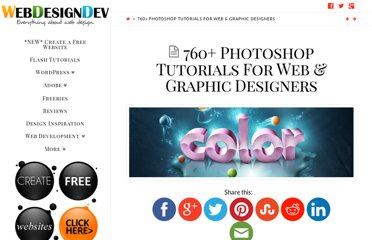 http://www.webdesigndev.com/photoshop/760-photoshop-tutorials-for-web-graphic-designers