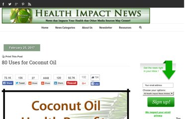http://healthimpactnews.com/2011/80-uses-for-coconut-oil/