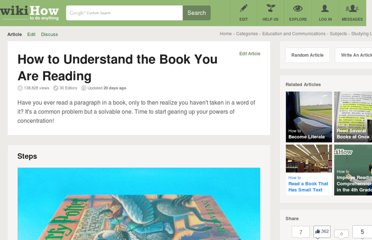 http://www.wikihow.com/Understand-the-Book-You-Are-Reading
