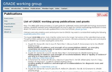 http://www.gradeworkinggroup.org/publications/index.htm