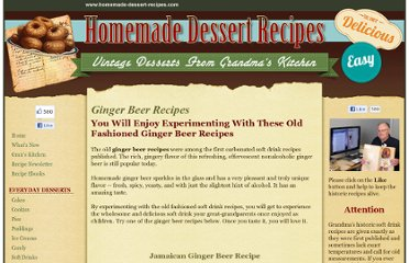 http://www.homemade-dessert-recipes.com/ginger-beer-recipes.html