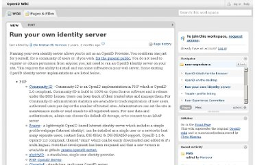 http://wiki.openid.net/Run-your-own-identity-server