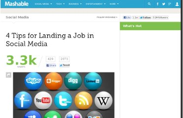 http://mashable.com/2011/12/18/4-social-media-job-tips/
