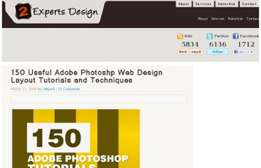 http://www.2expertsdesign.com/tutorials/150-adobe-photoshp-web-design-layout-tutorials