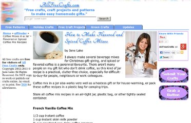 http://www.allfreecrafts.com/giftinajar/coffee-mixes.shtml