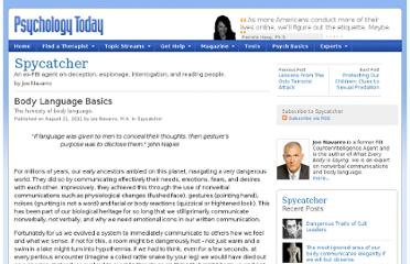 http://www.psychologytoday.com/blog/spycatcher/201108/body-language-basics