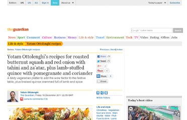 http://www.guardian.co.uk/lifeandstyle/2011/dec/16/roasted-squash-stuffed-quince-recipes