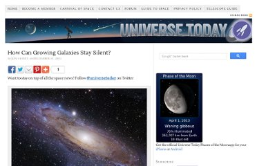 http://www.universetoday.com/91938/how-can-growing-galaxies-stay-silent/