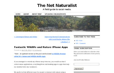 http://netnaturalist.com/2010/04/28/fantastic-wildlife-and-nature-iphone-apps/#comment-153
