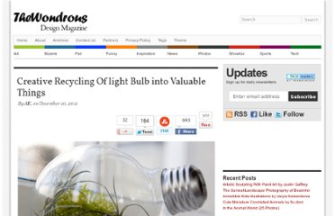 http://thewondrous.com/creative-recycling-of-light-bulb-into-valuable-things/