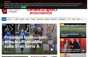 http://www.corrieredellosport.it/index.shtml