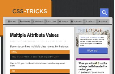 http://css-tricks.com/multiple-attribute-values/
