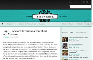 http://listverse.com/2009/03/29/top-10-ancient-inventions-you-think-are-modern/