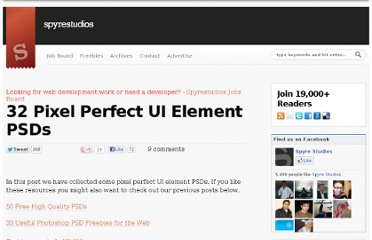 http://spyrestudios.com/32-pixel-perfect-ui-elements-psds/
