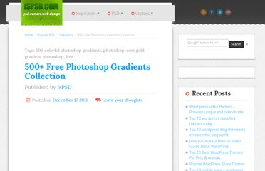http://www.ispsd.com/12/500-free-photoshop-gradients-collection/