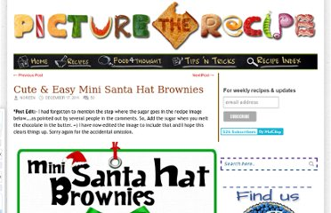http://picturetherecipe.com/index.php/recipes/cute-easy-mini-santa-hat-brownies/