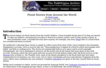 http://www.talkorigins.org/faqs/flood-myths.html