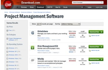 http://download.cnet.com/windows/project-management-software/?tag=mncol%3Bsort&filter=licenseName%3D%22Free%22%7C&filterName=licenseName%3DFree%7C&rpp=10&sort=editorsRating+asc