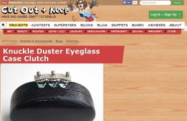 http://www.cutoutandkeep.net/projects/knuckle-duster-eyeglass-case-clutch