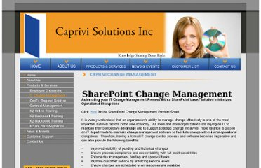 http://www.caprivisolutions.com/SharePoint-Change-Management-Process-Template.html#