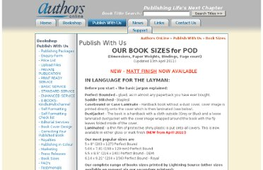 http://www.authorsonline.co.uk/publish_with_us/Book_Sizes/