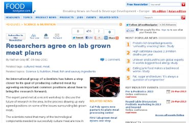 http://www.foodnavigator.com/Science-Nutrition/Researchers-agree-on-lab-grown-meat-plans