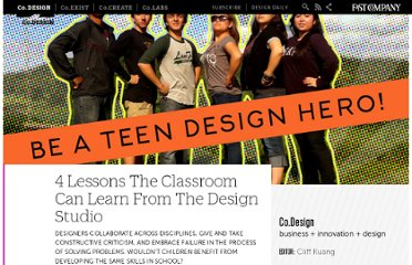 http://www.fastcodesign.com/1665654/4-lessons-the-classroom-can-learn-from-the-design-studio