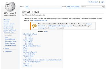 http://en.wikipedia.org/wiki/List_of_ICBMs
