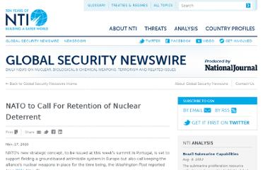 http://www.nti.org/gsn/article/nato-to-call-for-retention-of-nuclear-deterrent/