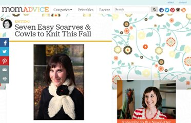 http://momadvice.com/blog/2011/08/seven-easy-scarves-and-cowls-to-knit-this-fall