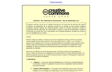 http://creativecommons.org/licenses/by-nc-nd/2.0/fr/legalcode
