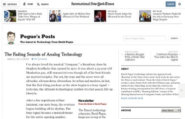 http://pogue.blogs.nytimes.com/2011/03/03/the-fading-sounds-of-analog-technology/