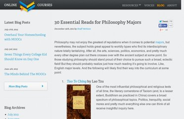 http://www.onlinecollegecourses.com/2011/12/19/30-essential-reads-for-philosophy-majors/