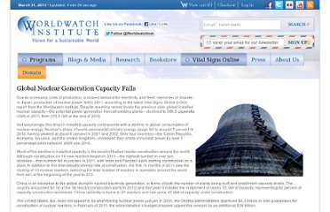 http://www.worldwatch.org/global-nuclear-generation-capacity-falls