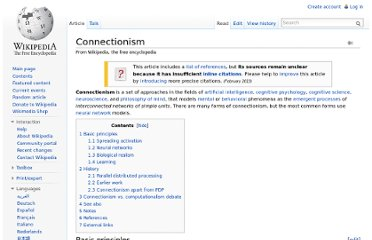 http://en.wikipedia.org/wiki/Connectionism