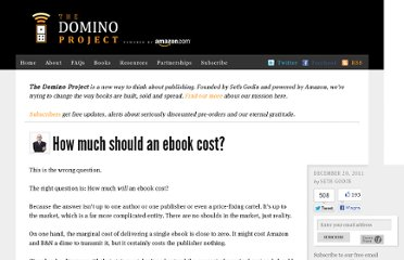 http://www.thedominoproject.com/2011/12/how-much-should-an-ebook-cost.html