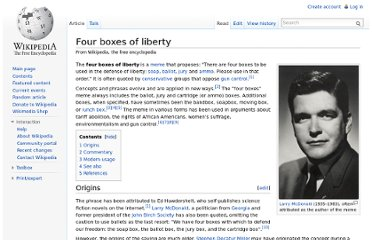 http://en.wikipedia.org/wiki/Four_boxes_of_liberty