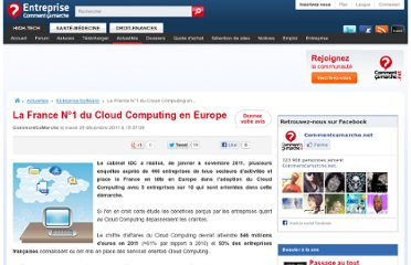 http://www.commentcamarche.net/news/5857641-la-france-n-1-du-cloud-computing-en-europe