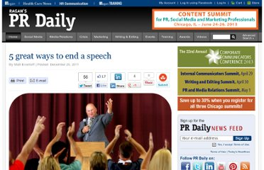 http://www.prdaily.com/Main/Articles/5_great_ways_to_end_a_speech_10368.aspx