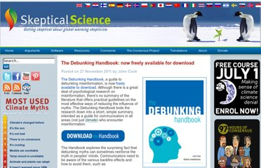 http://www.skepticalscience.com/Debunking-Handbook-now-freely-available-download.html